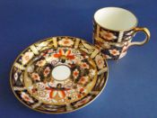 Royal Crown Derby 'Traditional Imari' Pattern 2451 Coffee Can and Saucer c1915